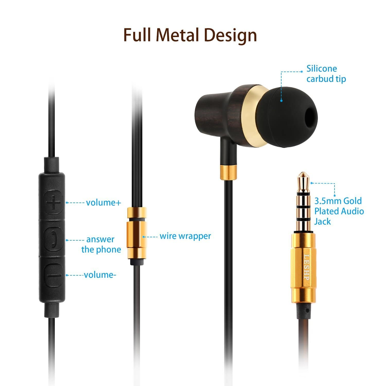 Earbuds In-Ear Headphone with Microphone for phone $7.79