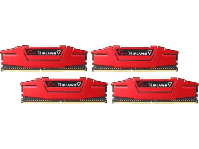 G.SKILL Ripjaws V Series 32GB (4 x 8GB) 288-Pin DDR4 SDRAM DDR4 3000 (PC4 24000) Intel Z170 Platform Desktop Memory Model F4-3000C15Q-32GVRB $299.99