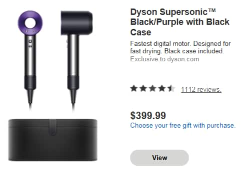 Dyson Owners get 20% off Supersonic + Free Case + Leather Bag $319.99