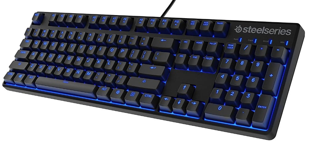 SteelSeries Apex M400 Illuminated Mechanical Gaming Keyboard - Linear Switch - Blue LED Backlit - Media Controls - Steel Back Plate $59.97