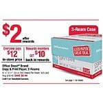 Office Depot B&M 3 ream case pay $12, get back $10 in rewards (08.30.2015-09.05.2015)