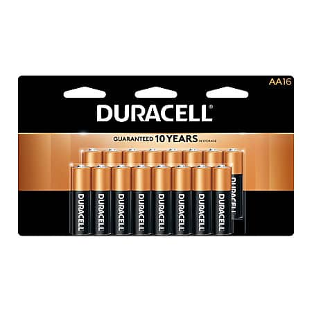 Office Depot OfficeMax Rewards: Duracell AA/AAA batteries (packs of 16). Pay $13.99 Get back $13.98 in rewards. Limit 2. 07/23/2017 - 07/29/2017.