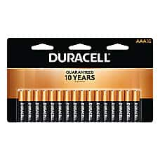 Office Depot OfficeMax Rewards: Duracell AA/AAA batteries (packs of 16). Pay $15.99 Get back $15.98 in rewards. Limit 2. 12/10/2017 - 12/16/2017.