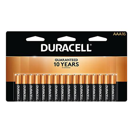 Office Depot OfficeMax Rewards: 100% back in Rewards on Duracell AA/AAA batteries (packs of 16). Limit 2. 12/17/2017 - 12/23/2017.