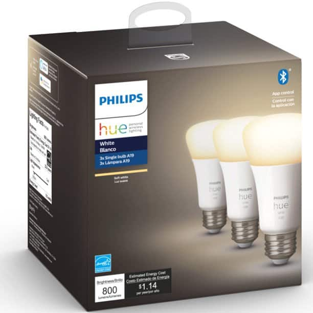 Hue A19 Color Bulbs Clearance (Walmart B&M - YMMV) + More $25