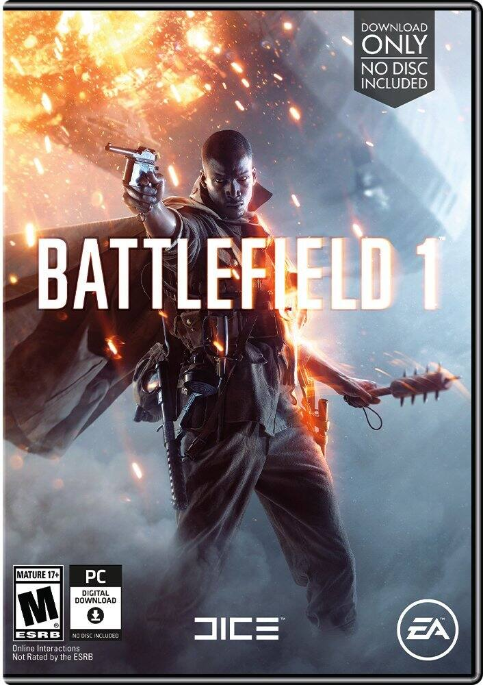 Battlefield 1 PC $34.99 (code), Xbox One & PS4 $39.99 @ Amazon