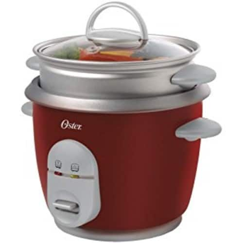 Oster 4722 Rice Cooker with Steamer 6cups,Red [Red, 1] $18.89+amazon