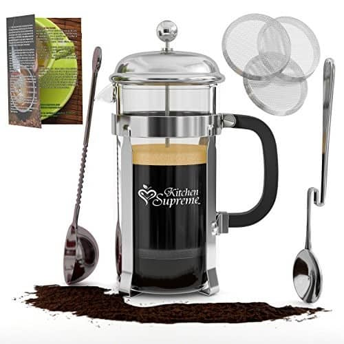 French Coffee & TeaMaker Complete Bundle | 34 Oz | Best Coffee Pot with Stainless Steel & Double German Glass$27.84+amazon $27.82