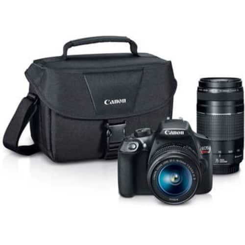 EOS Rebel T6 DSLR Camera with 18-55mm and 75-300mm Lenses Kit (Save $300) $449
