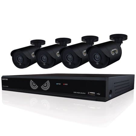 Night Owl 8-Channel Security System, 720P AHD DVR w/ 1 TB hard drive, 4 indoor/outdoor HD 720p bullet cameras ($175)