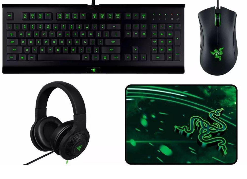 YMMV - Select Walmart Stores: Razer 4-Pc Gaming Bundle (Keyboard, Mouse, Headset & Pad) $25
