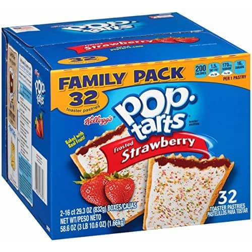 Pop-Tarts, Frosted Strawberry, 32 Count, 58.61 Ounce [Frosted Strawberry, 58.61 Ounce]