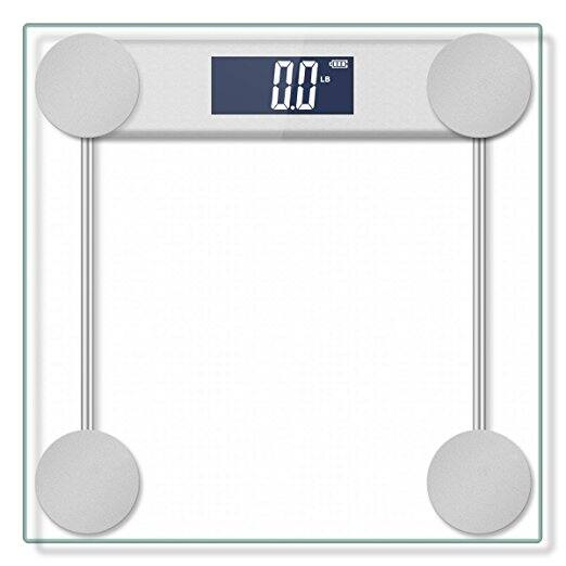 Hippih 400lb/180kg Electronic Bathroom Scale with Tempered Right Angle Glass Balance Platform and Advanced Step-On Technology for $9.89 @Amazon