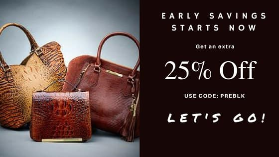 Get an extra 25% Off Markdowns on leather handbags, shoes and accessories plus free shipping and monogramming on applicable items $19.95