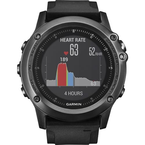 Garmin - fēnix® 3 HR Smartwatch 51mm Fiber-Reinforced Polymer - Gray $299.99