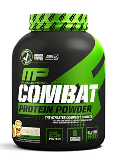 MusclePharm Combat Protein Powder - 4lbs - Cookies and Cream $20.51