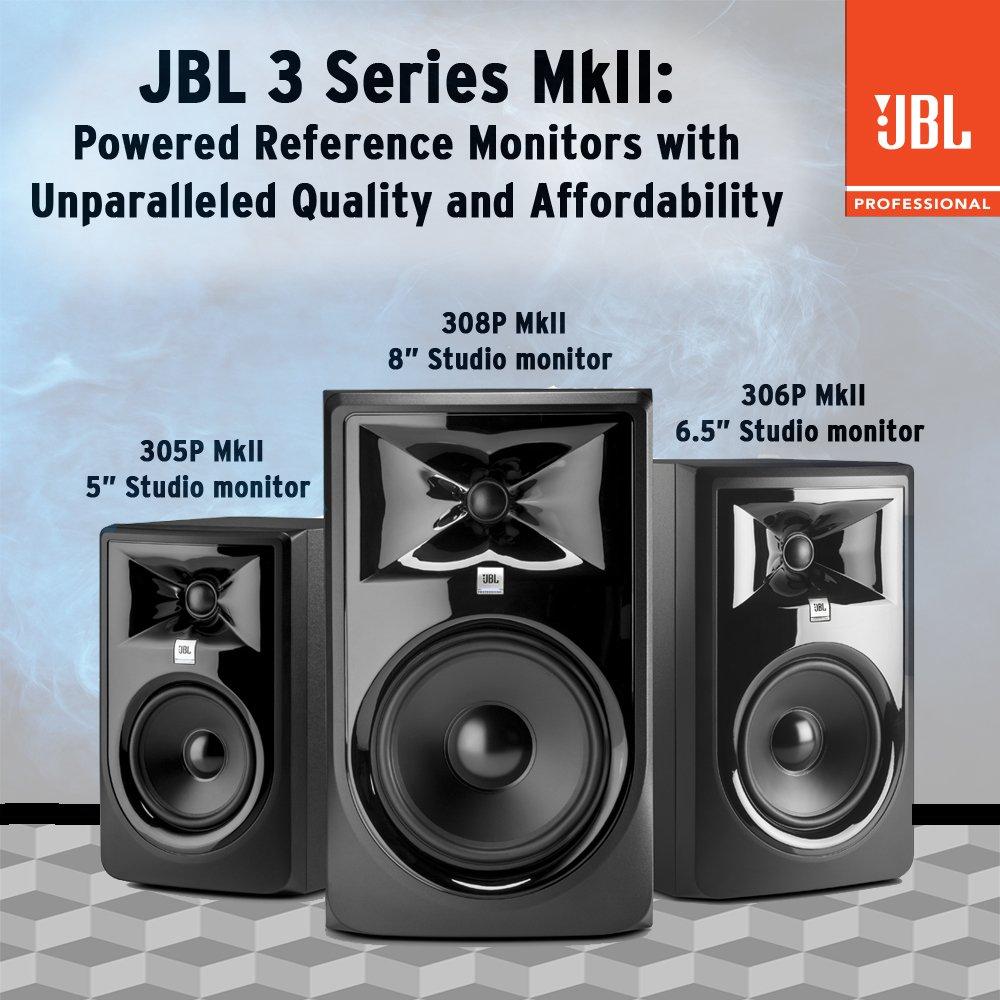 "JBL Professional 306P MkII Next-Generation 6"" 2-Way Powered Studio Monitor $99.00"