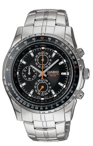 Casio Men's MTP4500D-1AV Slide Rule Bezel Aviator Stainless Steel Watch $30.86