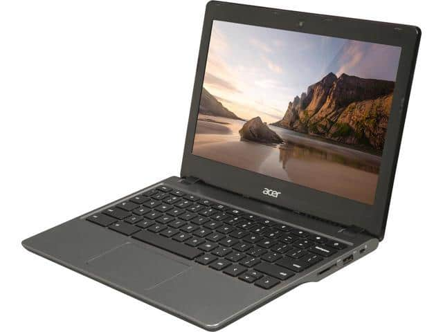 "Refurbished: Acer Grade B C720 Chromebook Intel Celeron 2955U (1.40 GHz) 4 GB Memory 16 GB SSD 11.6"" Chrome OS $59.99"
