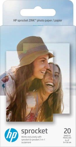 """HP - Sprocket ZINK Photo 2"""" x 3"""" 20-Count Paper - Gloss Finish $4.99"""