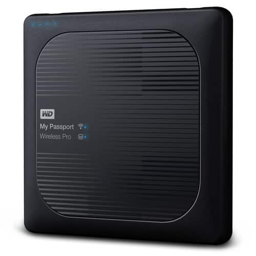 Western Digital Portable Hard Drive 2TB My Passport Wireless Pro - Black (WDBP2P0020BBK-NESN) $149.99