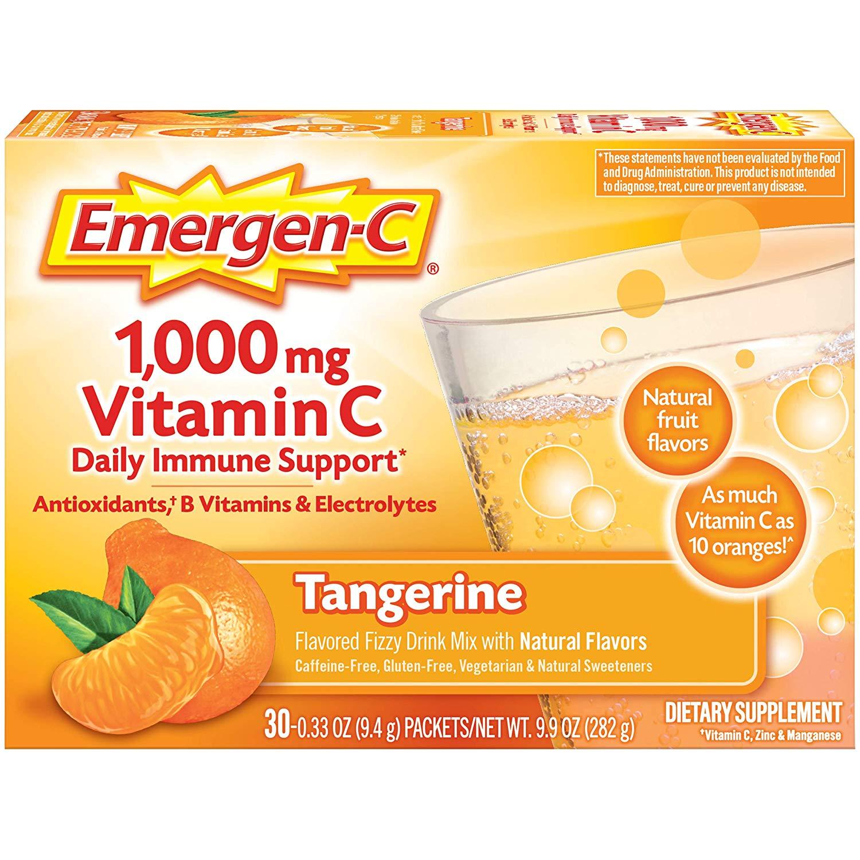 60-Count 0.33oz Emergen-C 1000mg Vitamin C Powder Tangerine $10.63 or less Amazon s&s + free s&h