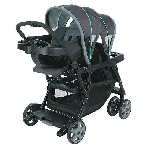 Graco Ready2Grow™ Click Connect™ Stand and Ride Double Stroller - Lake Green $99