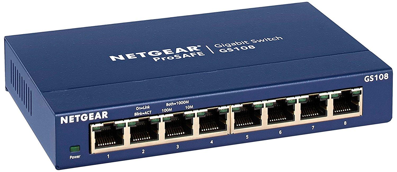 Netgear 8 Port Gigabit Switch Sale, $34.99, $13 off