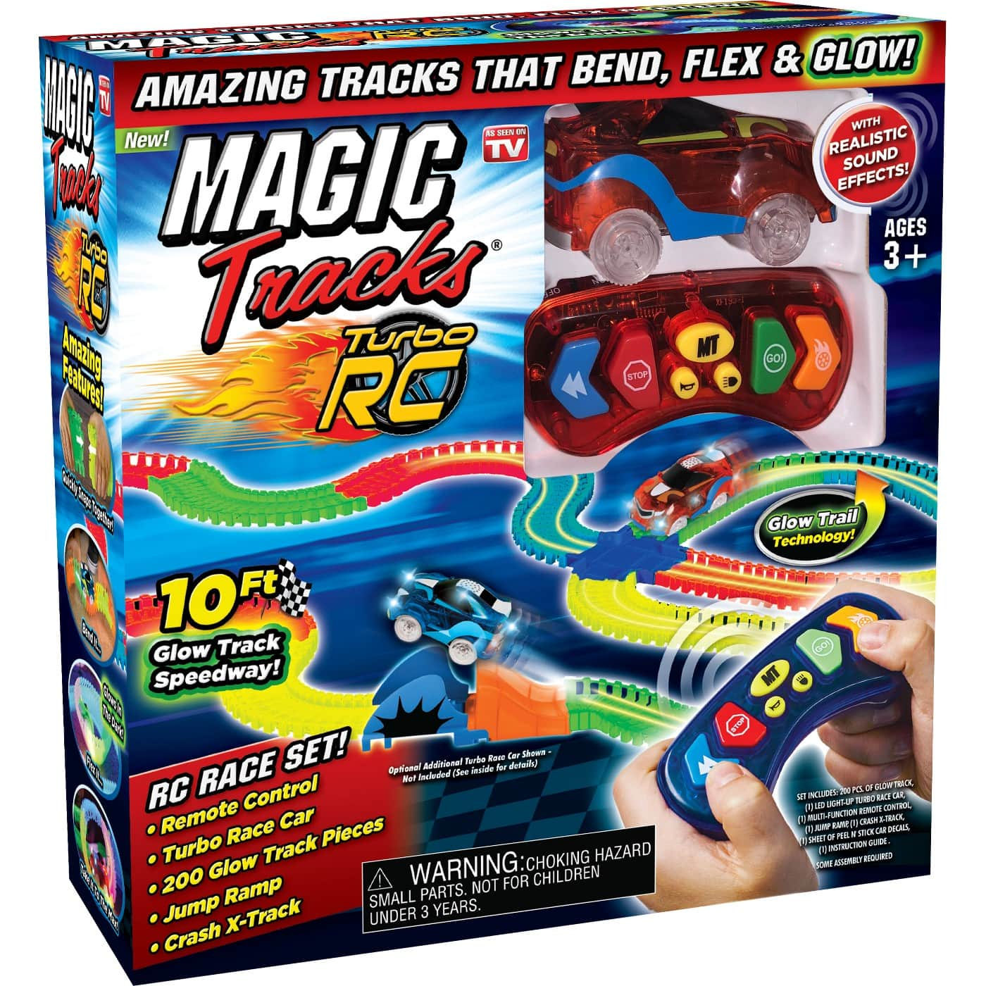 Magic Tracks RC 10ft Racetrack with Remote for $7 YMMV