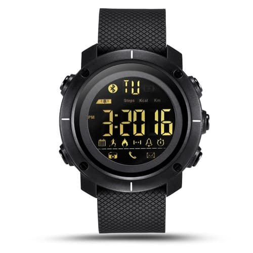 LEMFO LF19 Digital Mens Smart Watch IP68 Waterproof 5ATM Call SMS Notification Sport Smartwatch with LED Backlight for $18.84 @Amazon