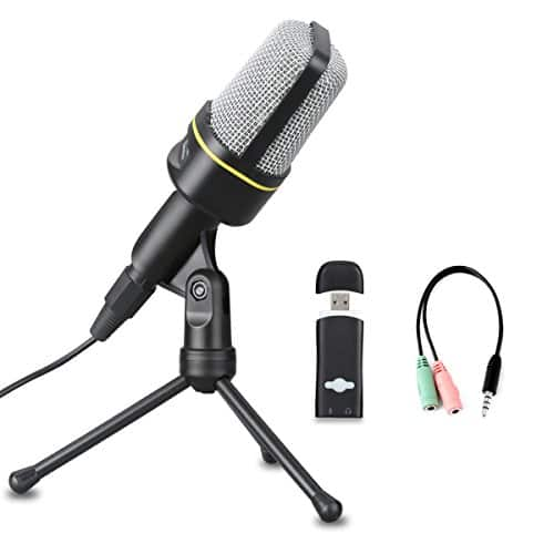 Excelvan Condenser Microphone Black SF-920 3.5mm Desktop Microphone $4 @Amazon