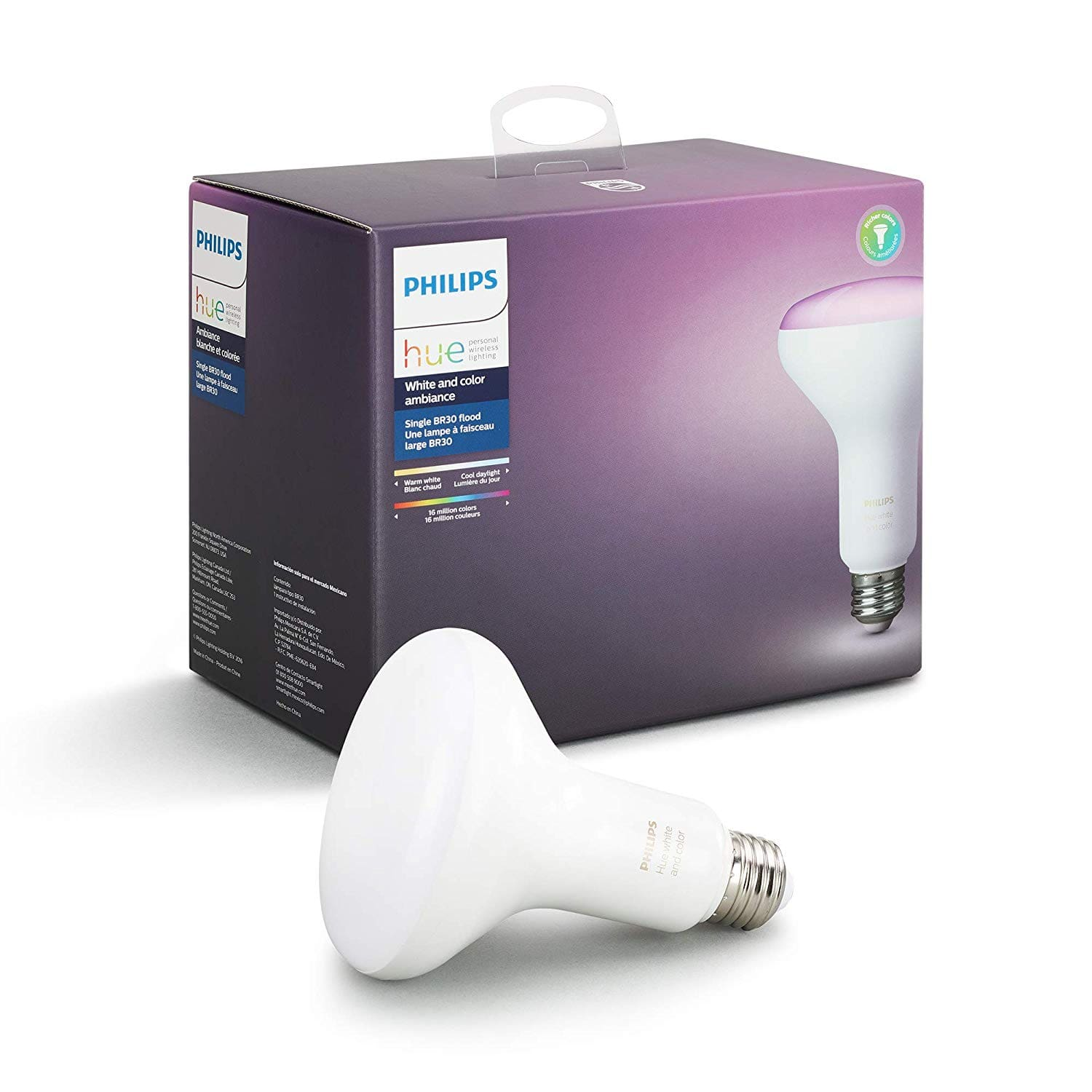 Philips Hue BR30 white and color $39.97 @ Amazon