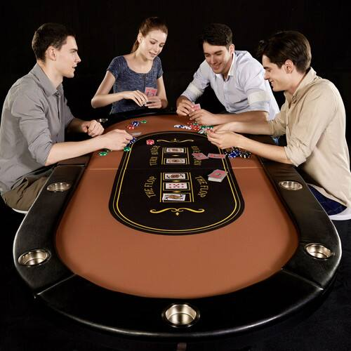 Barrington 10-Player Poker Table, No Assembly Required $99.47