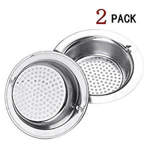 Stainless Steel Kitchen Sink Strainer With Head Held-Large Wide Rim, 2 pcs, $5.94 (Regular $9.90)