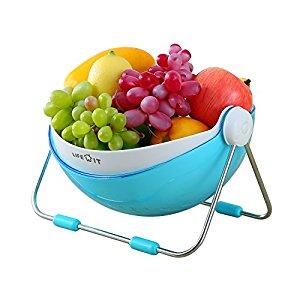 Fruit Bowl Holder, Fruit Vegetable Washing Basket-Storage with 360 Lid, $14.59 (Regular $19.99)