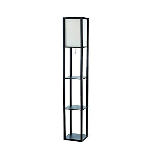 Amazon Simple Designs Black Floor Lamp with Shelf $24.57 Prime AC