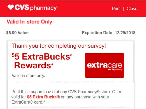 CLOSED CVS Advisor Panel Members - Check your email for a New Survey pays $5.00 in CVS ExtraBucks Rewards -YMMV