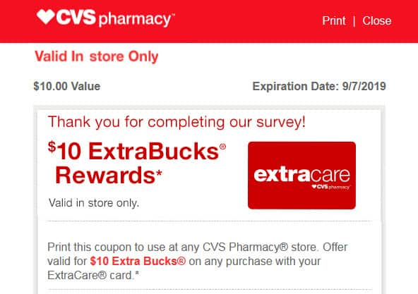 H/U: CVS Advisor Panel Members - Check your email for a New Survey pays $10.00 in CVS ExtraBucks Rewards -YMMV
