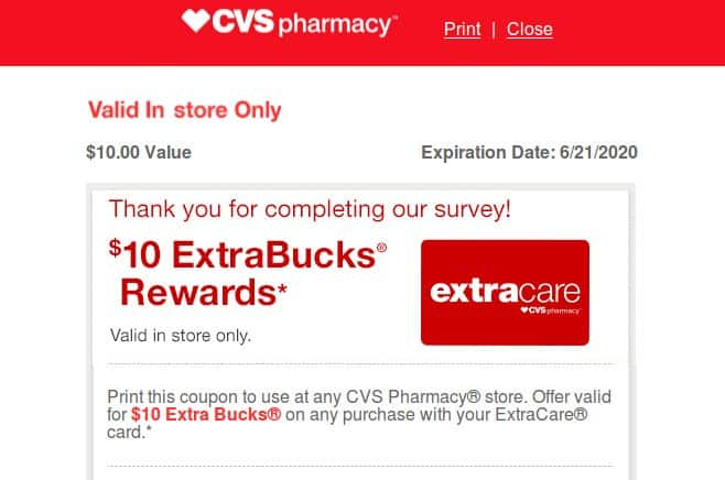 H/U: CVS Advisor Panel Members - Check your email for a New Survey pays $10.00 in CVS ExtraBucks Rewards if you qualify - YMMV - Act Fast!