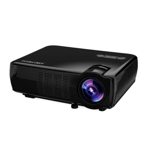 35%OFF  Abdtech 2600lumens portable HD home theater projector + free shipping for prime $102.69