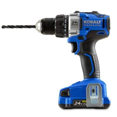 Kobalt 24-Volt Max 1/2-in Brushless Cordless Drill (Charger Included and 1-Battery Included) $79