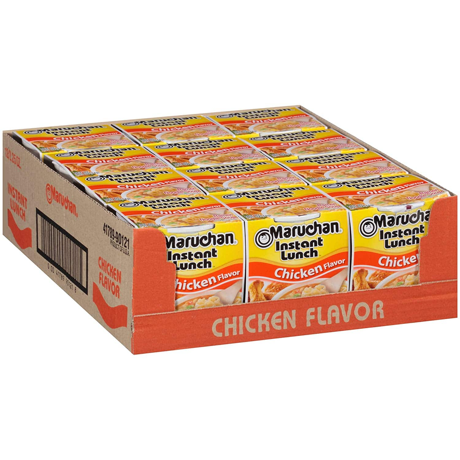 Maruchan Instant Lunch Chicken Flavor Noodles, 2.25 Oz, Pack of 12 $4.08