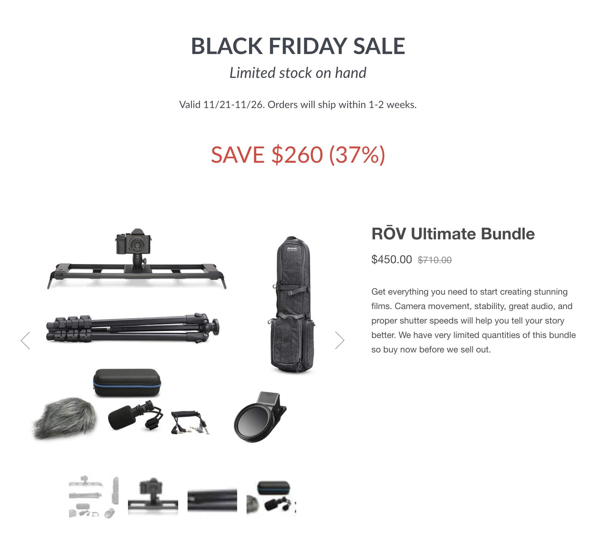 Rhino Slider ROV Ultimate Bundle 37% off $450