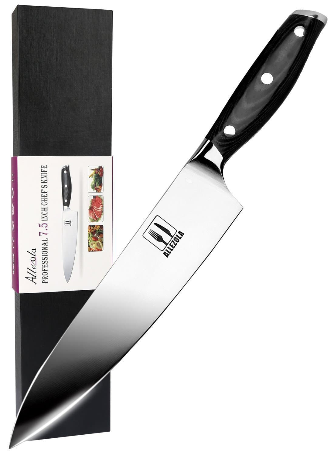 7.5 Inch German High Carbon Stainless Steel Chef's Knife $25.99 @ Amazon