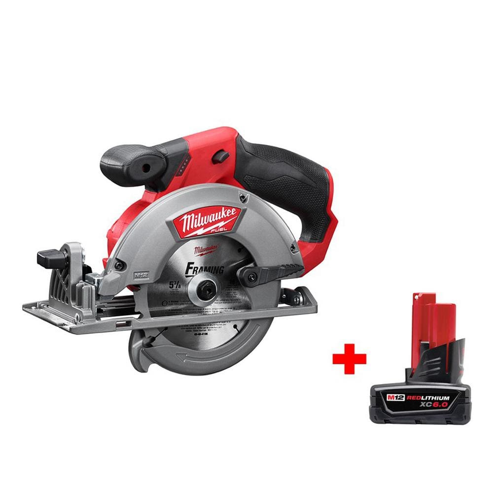 m12 Fuel - Milwaukee Circular Saw with 6amp Battery $150