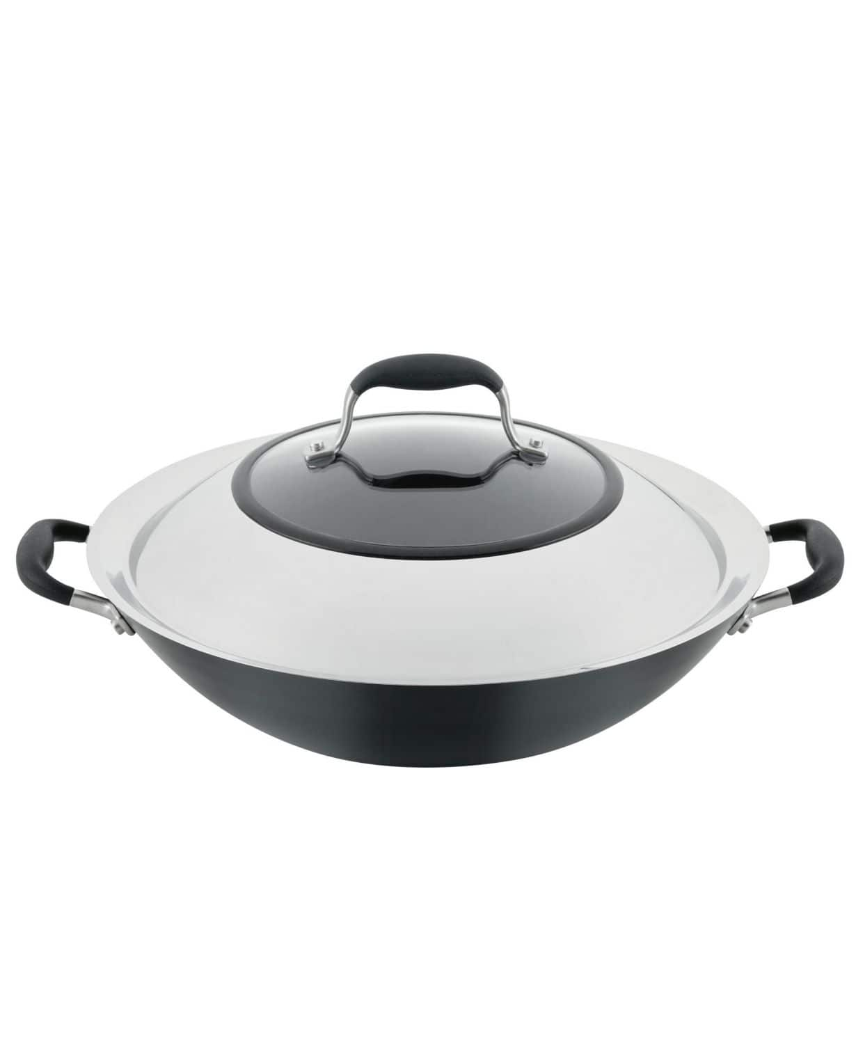 "Macy's - Anolon  Hard-Anodized 14"" Nonstick Wok with Side Handles $50.99"