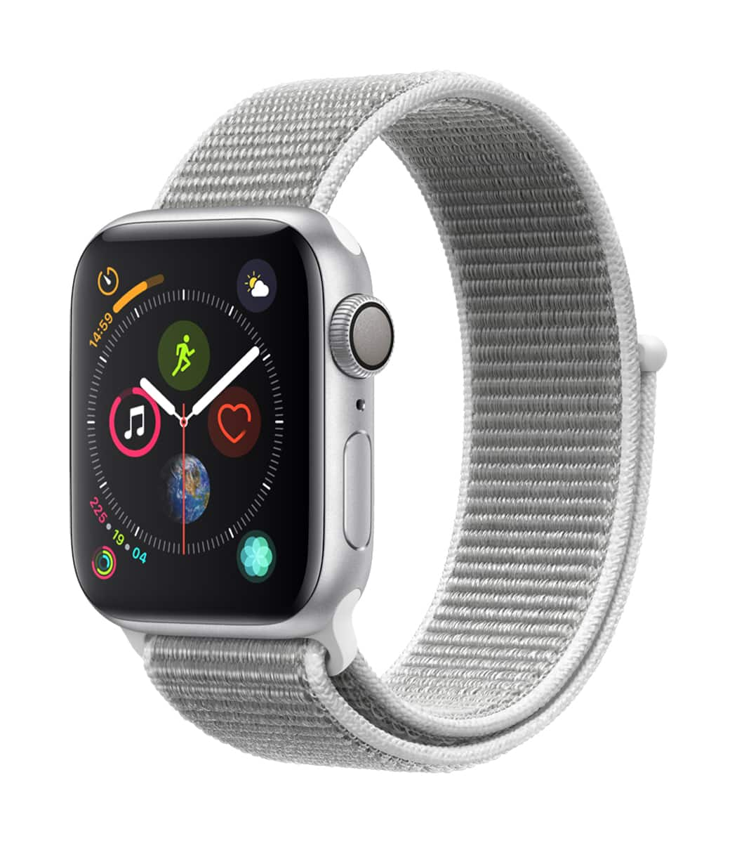 Apple Watch Series 4 GPS 40mm Silver Aluminum with Seashell Sport Loop $386 + FS + No Tax (for some) @ABT