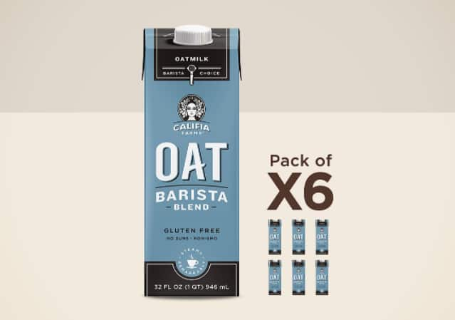 Califia Farms Barista Blend Oat Milk, 32-oz 6 Pack 15.07 or 16.74