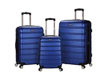 Rockland Luggage 3 Piece Hardside Set $105 + free shipping