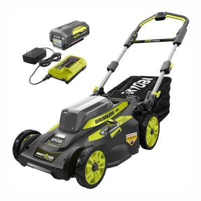 YMMV B&M HD - 20 in. 40-Volt Brushless Lithium-Ion Cordless Smart TREK Self-Propelled Walk Behind Mower w/6.0 Ah Battery and Charger $279